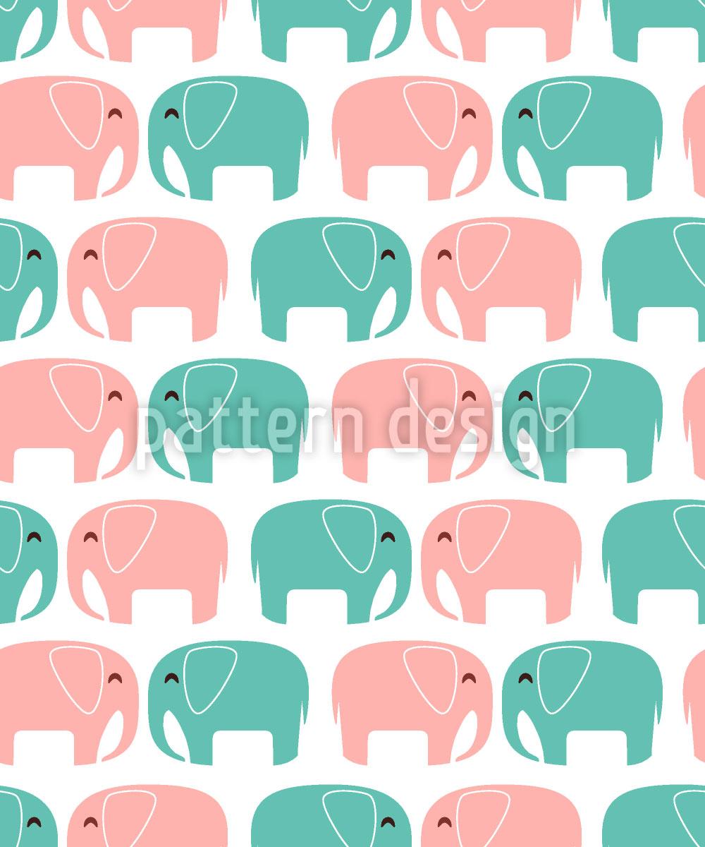 Designtapete Verliebte Elefanten