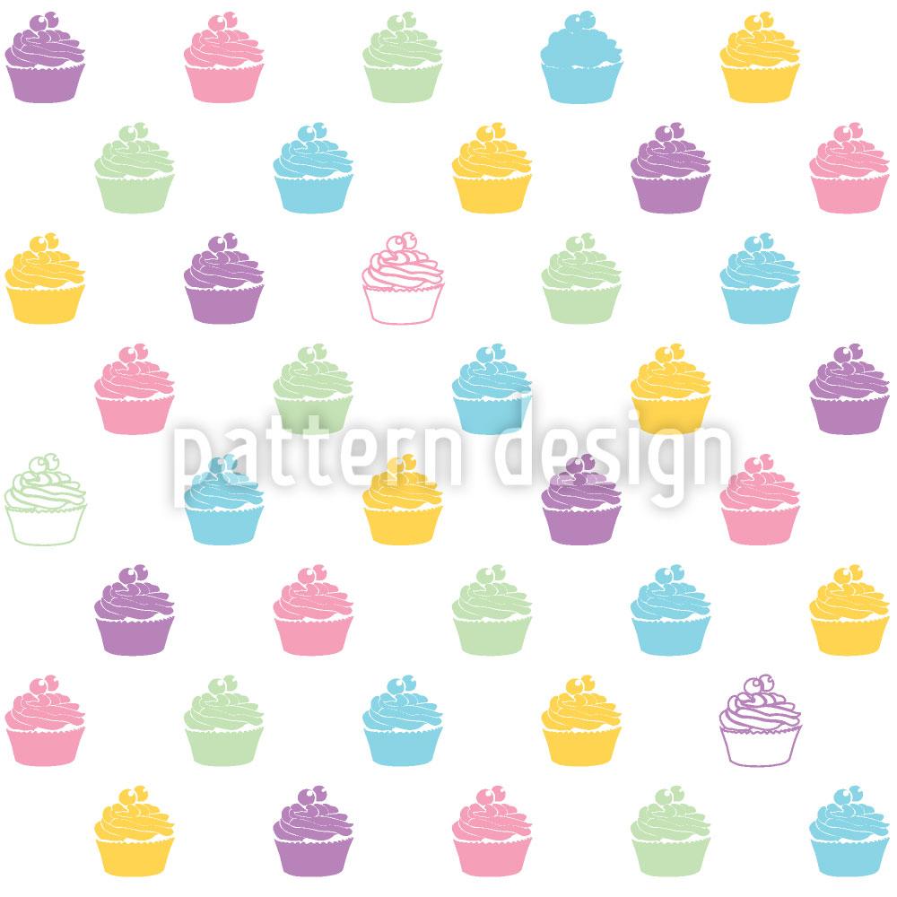 Designtapete Blaubeer Cupcakes