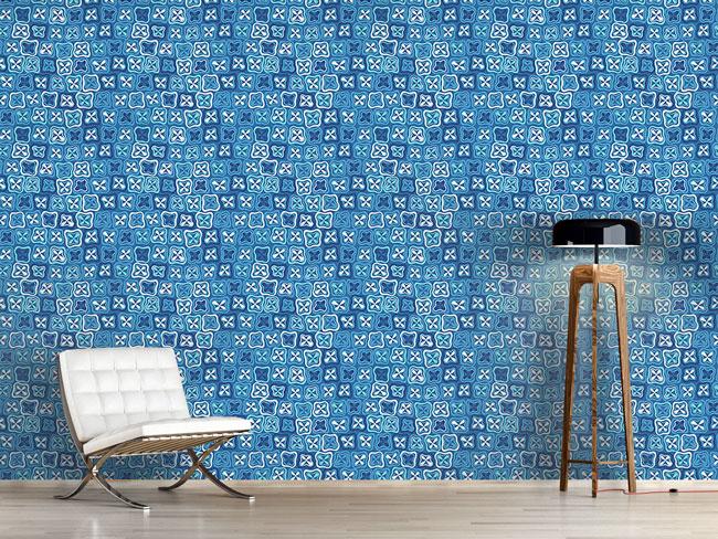 Designtapete Florales Crossover Mosaik