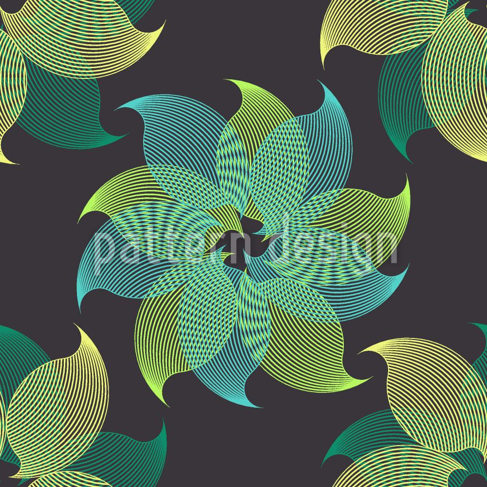 Designtapete Lichtblumen