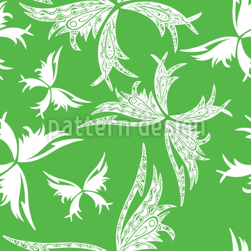 Designtapete Polynesische Schmetterlinge Im Frühling