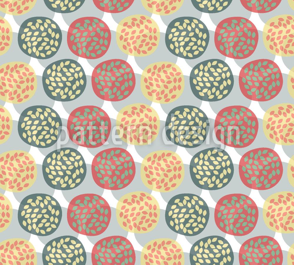 Designtapete Die Granatapfel Kreise