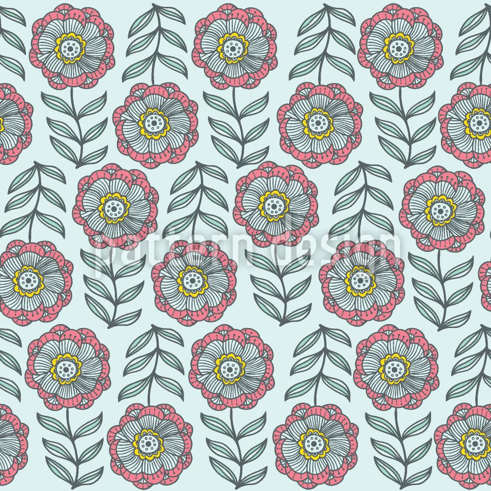 Designtapete Zartheit Im Blumenbeet