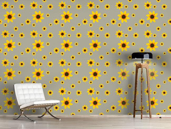 Designtapete Sonnenblumen