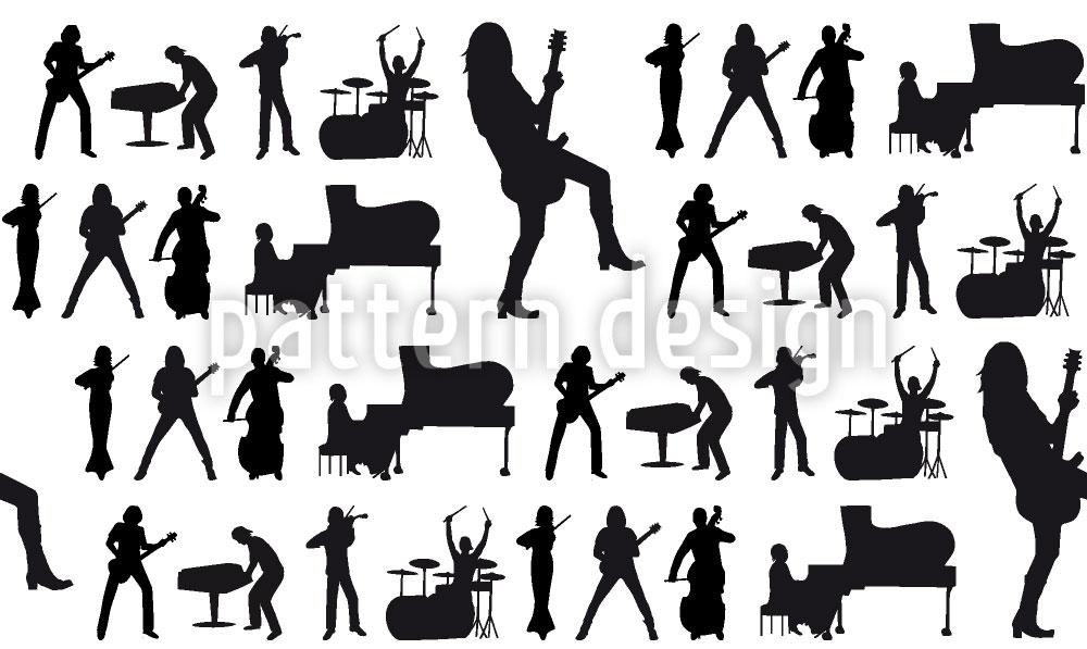 Designtapete Musik Für Die Welt