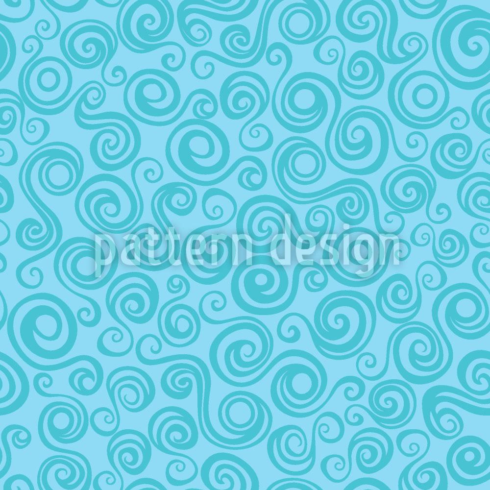 Designtapete Meerjungfrau Locken