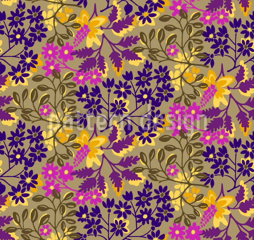 Designtapete Pfingstblumen