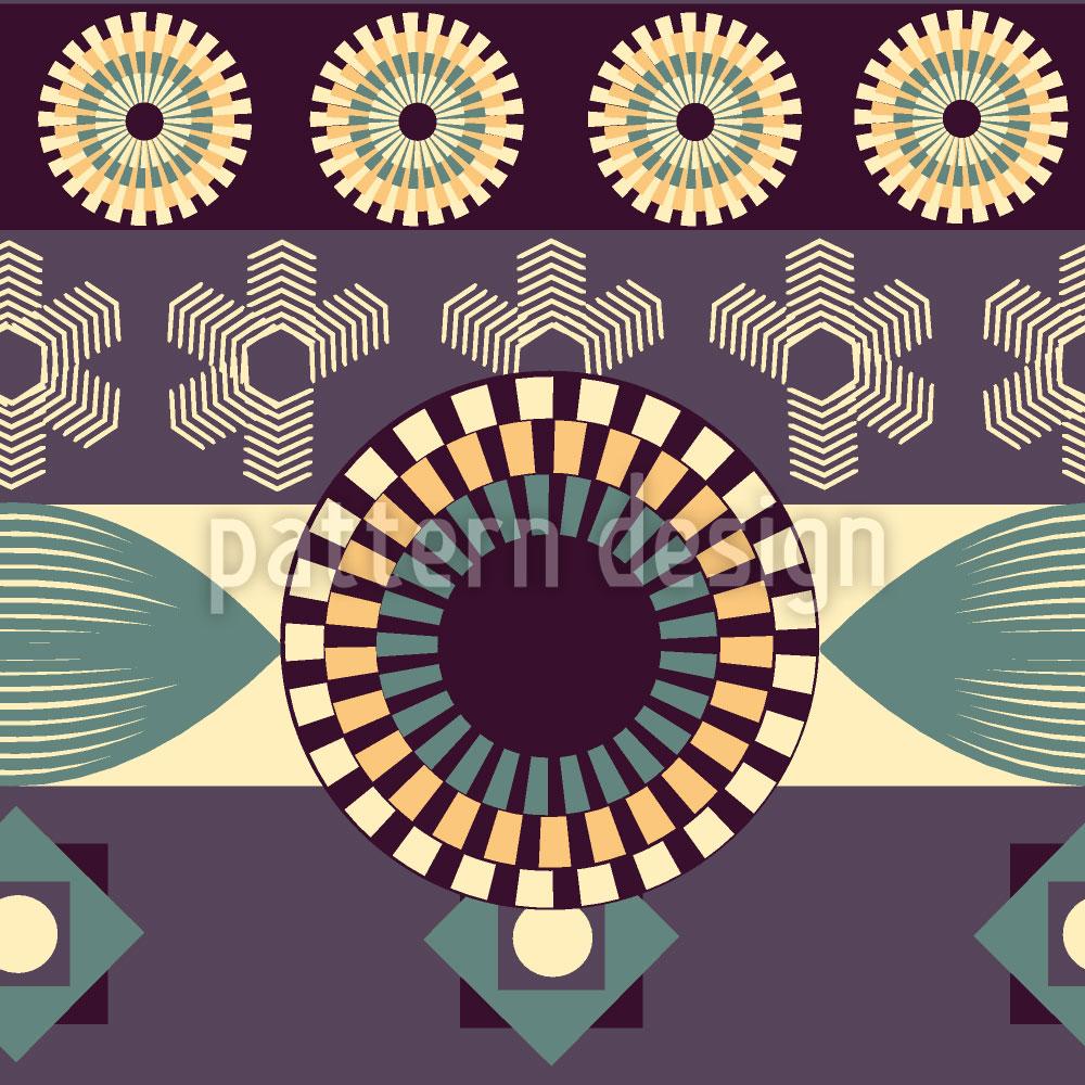 Designtapete Vintage Geometrie