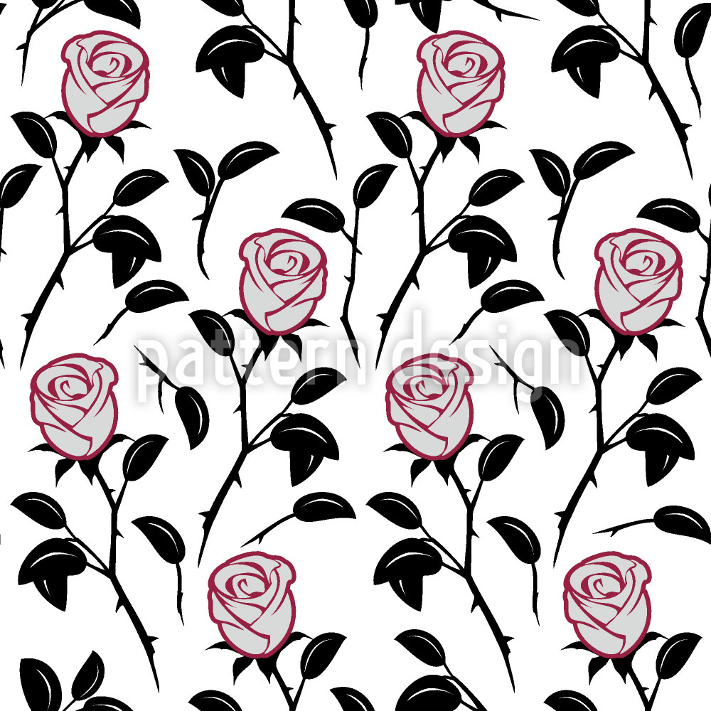 Designtapete Schneewittchens Rosen