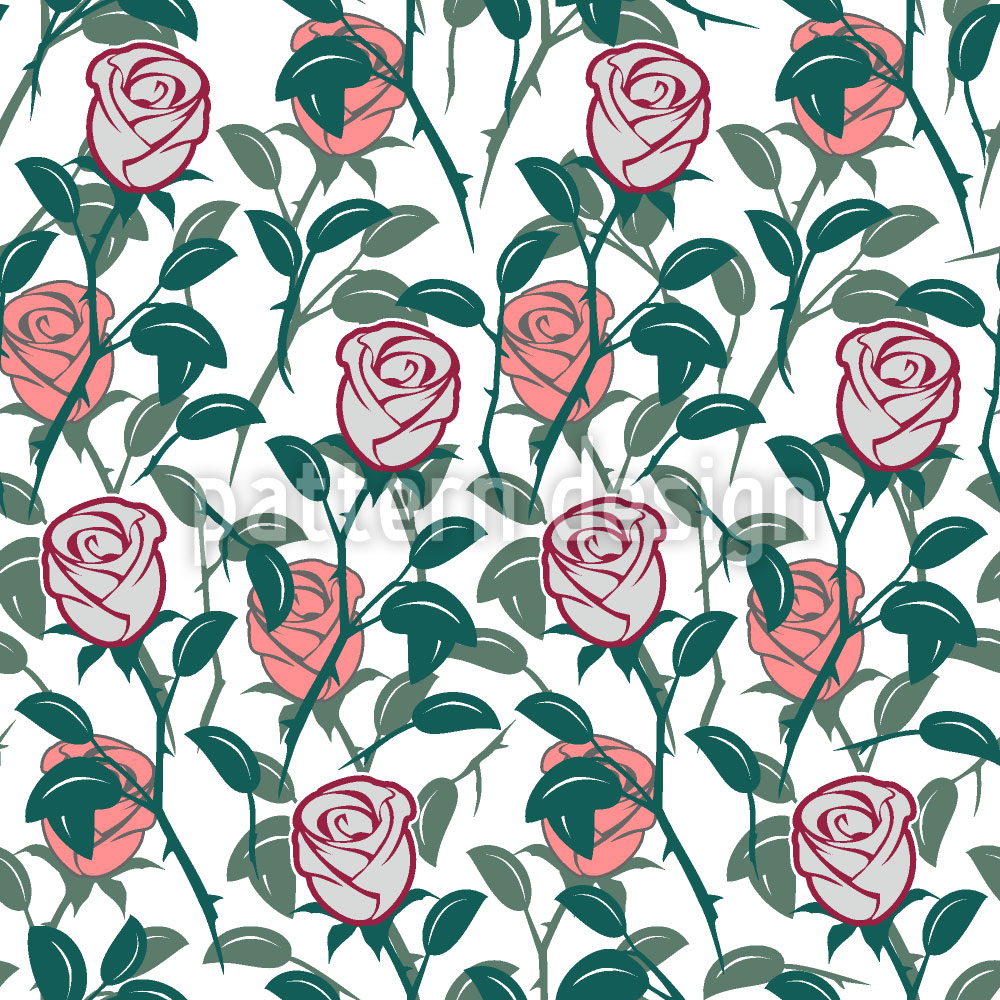Designtapete Im Englischen Rosengarten