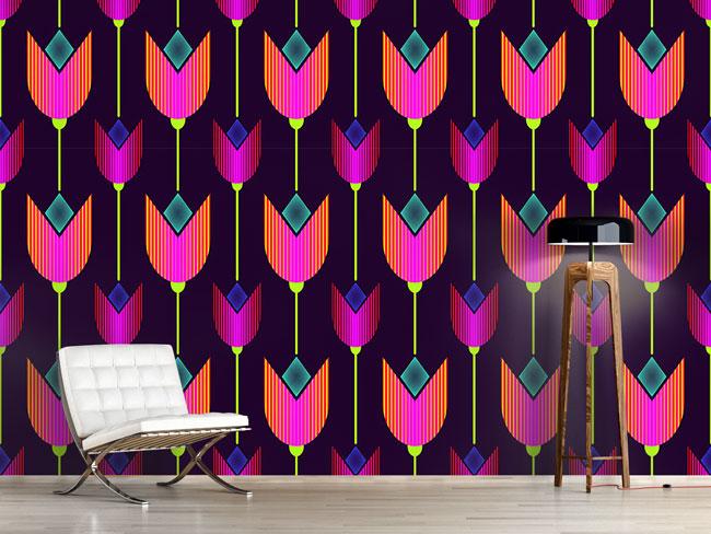 Designtapete Tulpen Avantgarde