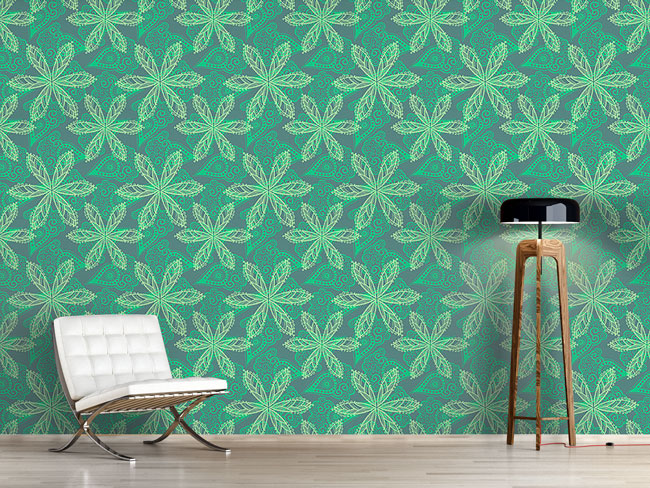 Designtapete Floral Oriental