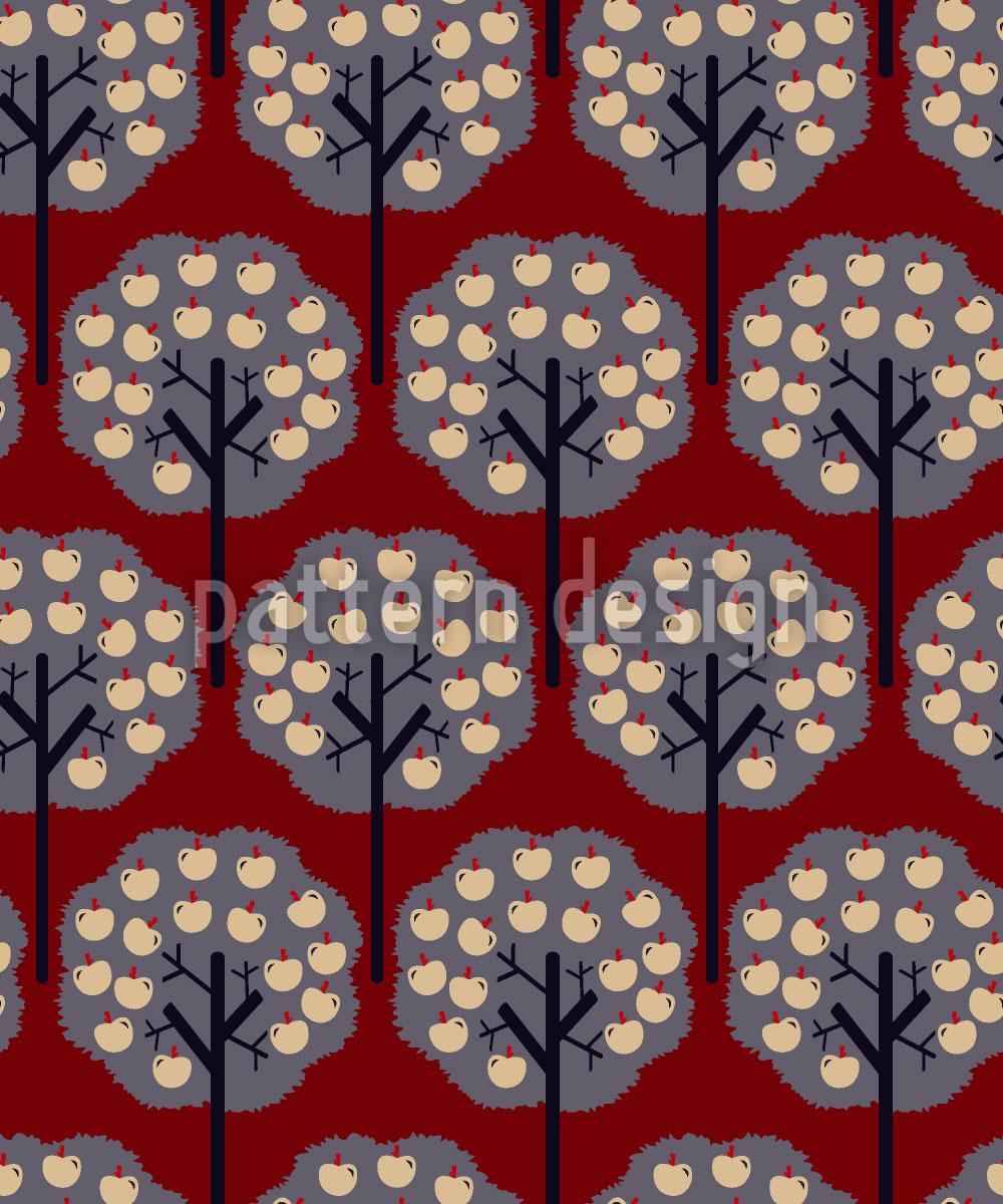 Designtapete Apfelbäume Im Winter