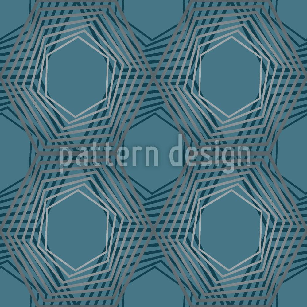 Designtapete Netzwerk Geometrie