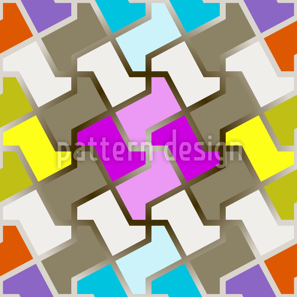 Designtapete Lustiges Puzzle
