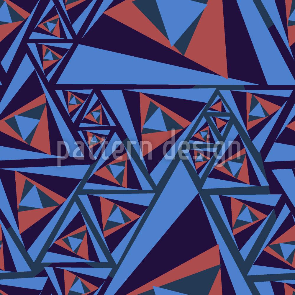 Designtapete Kippeffekt Der Dreiecke