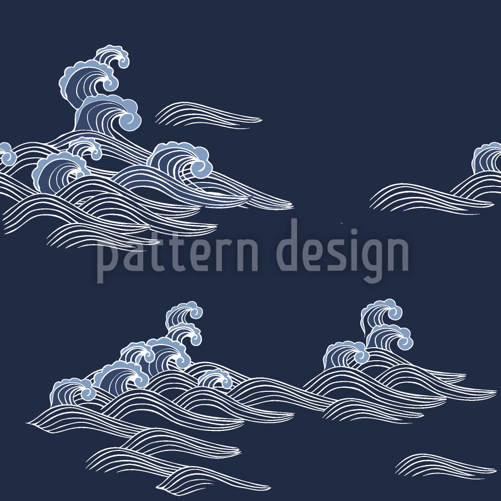 Designtapete Meereswellen