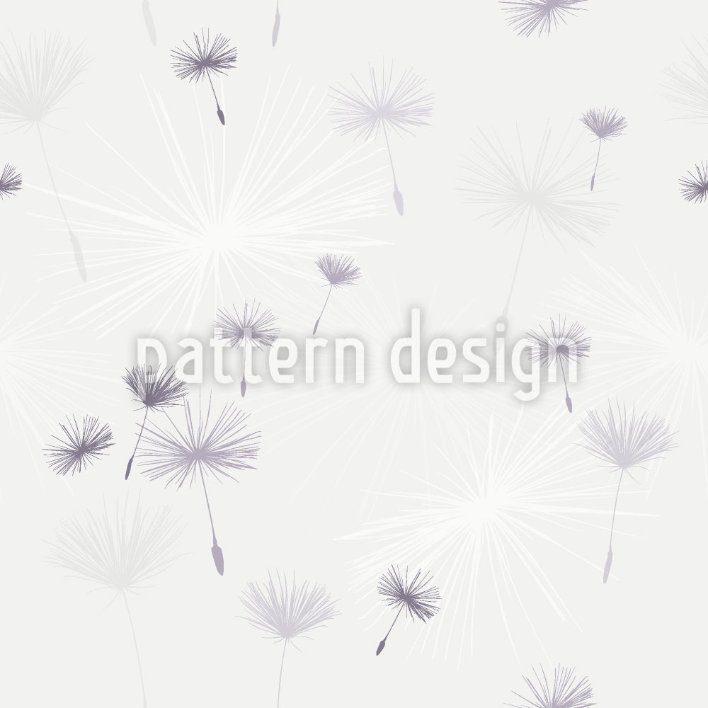 Designtapete Pusteblumen Light