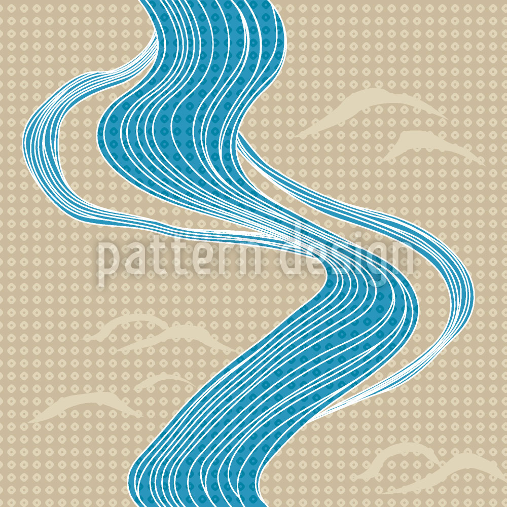 Designtapete Japanischer Fluss