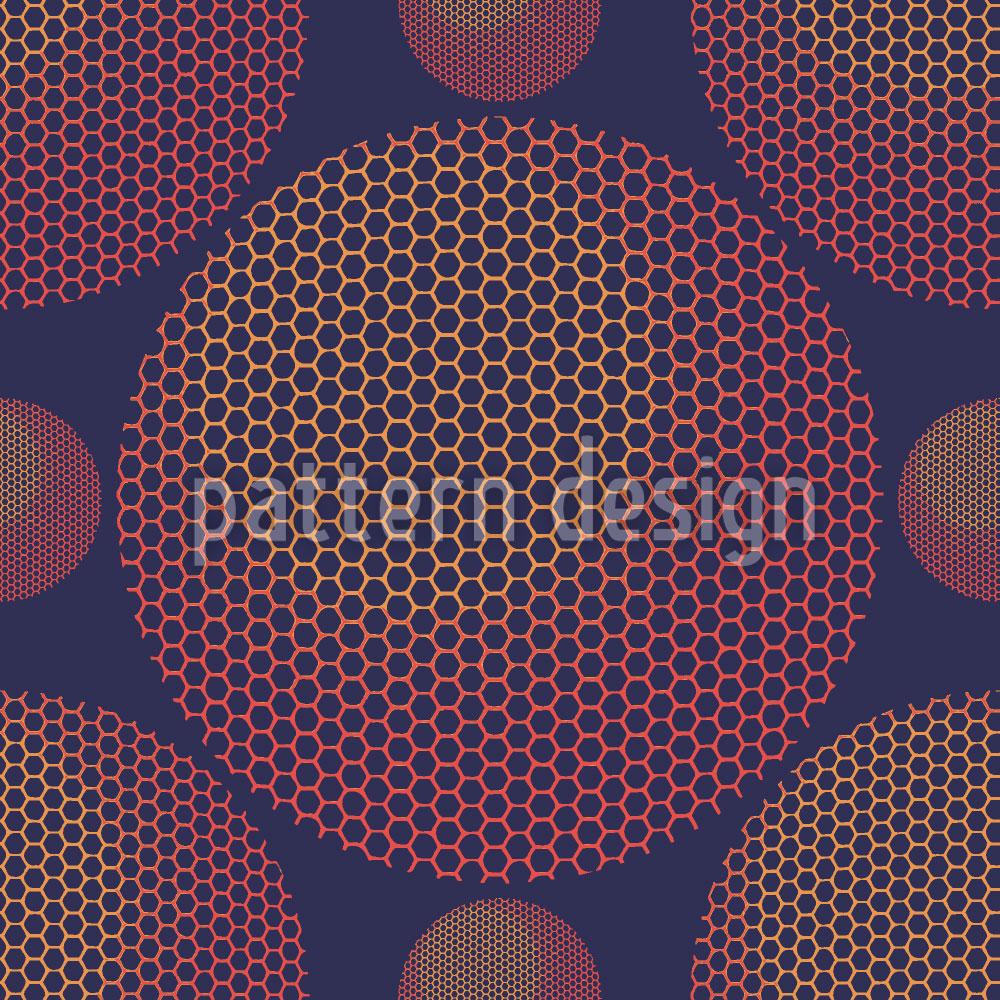 Designtapete Hexagon Planetarium