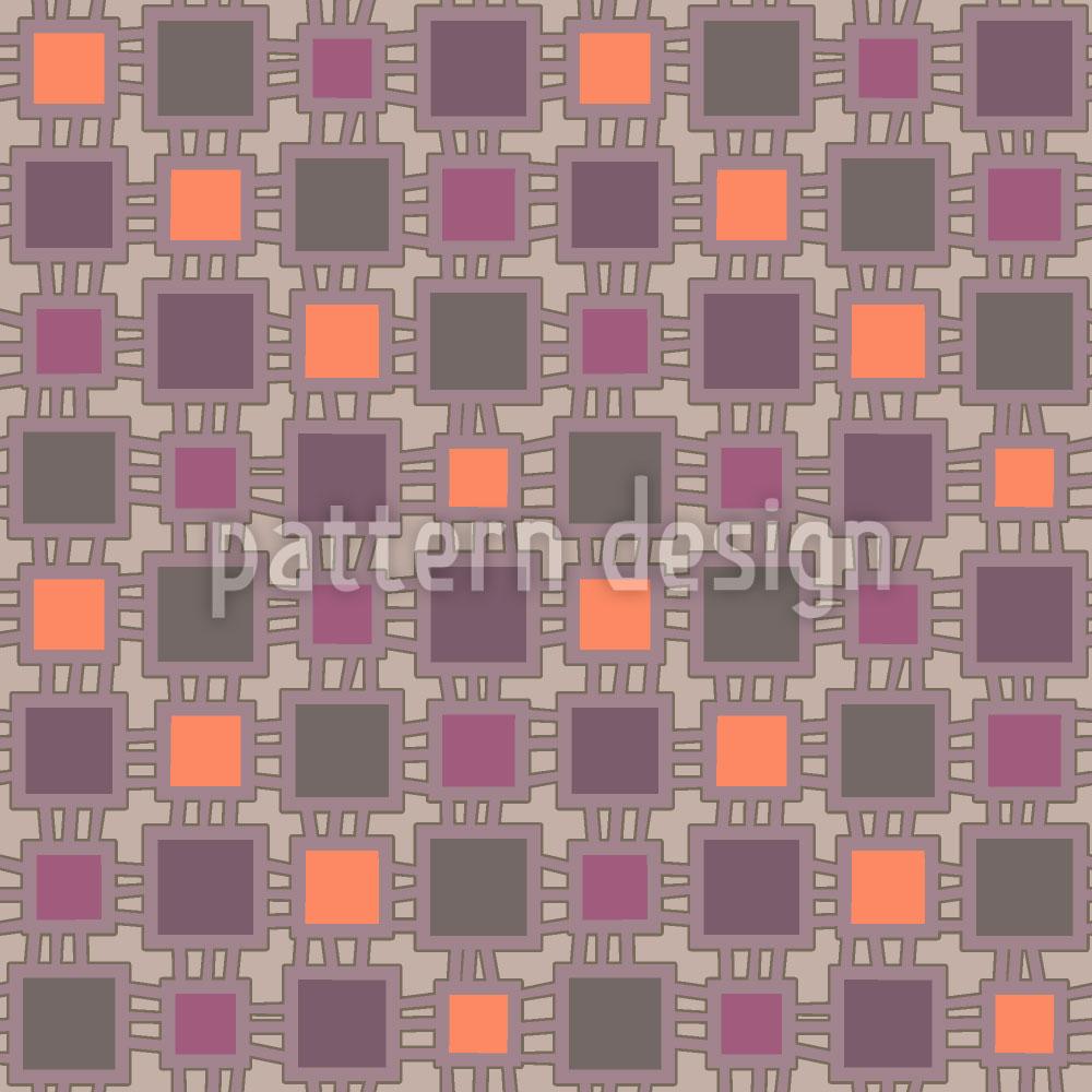 Designtapete Webstuhl Patchwork