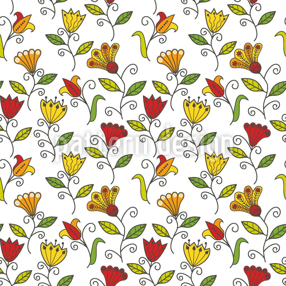 Designtapete Sommerblumen Freude