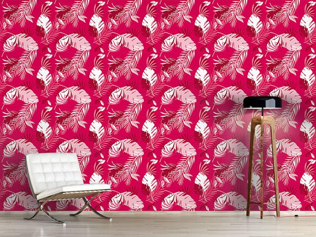 Designtapete Honolulu Pink