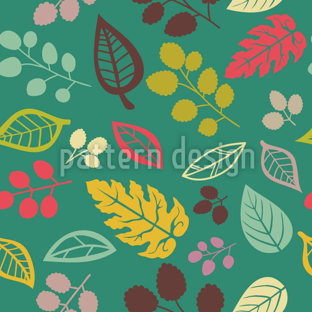 Designtapete Blätter Zu Lieben