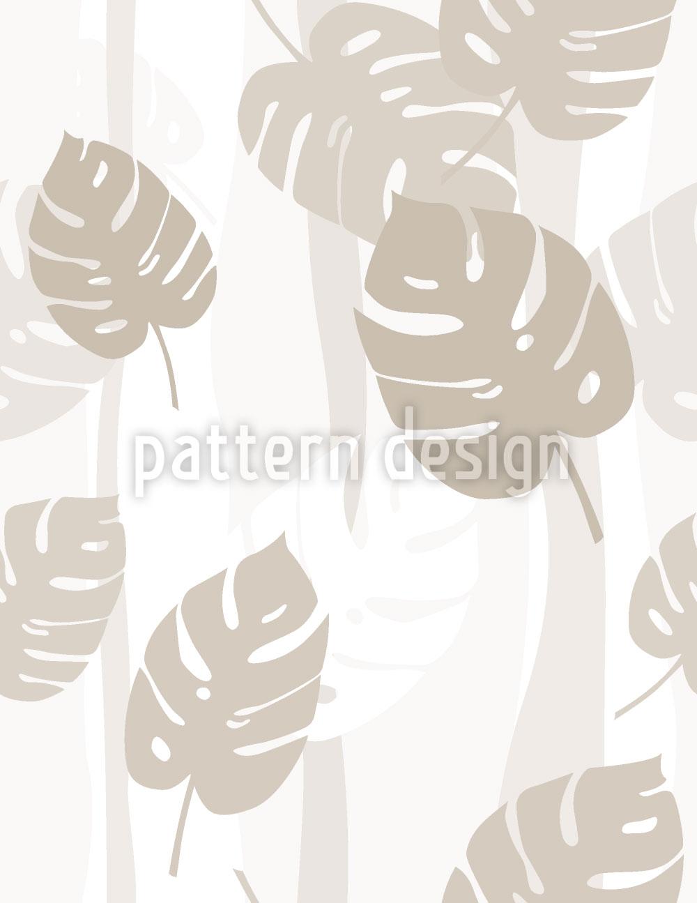 Designtapete Beige Blätter