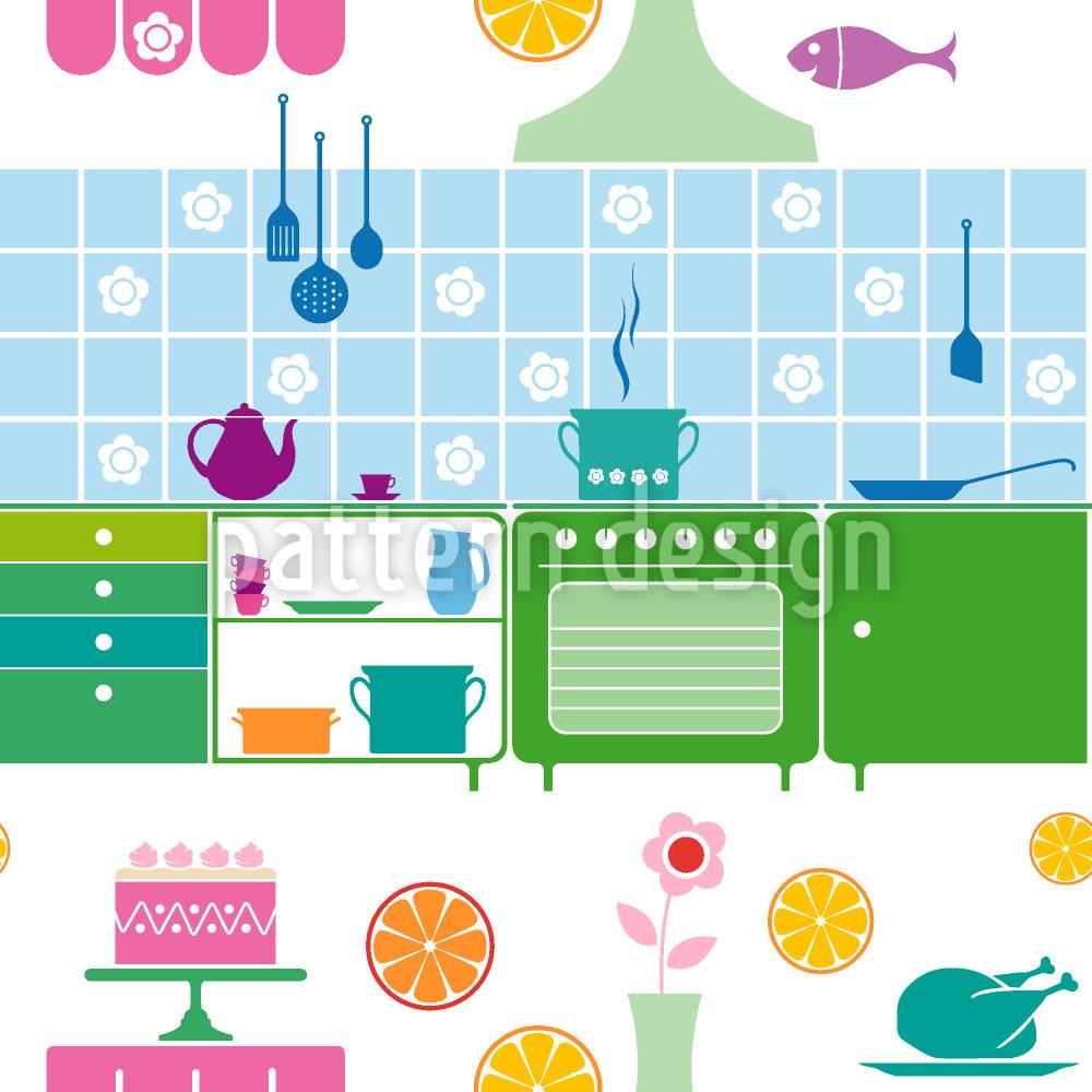 Designtapete Küchenträume Einer Hausfrau