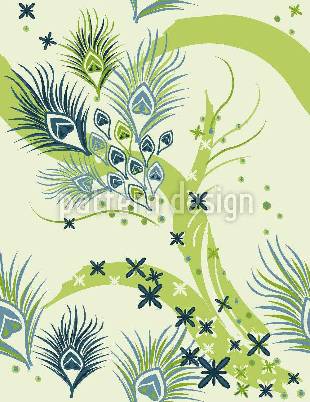 Designtapete Stilisierte Pfauenaugen