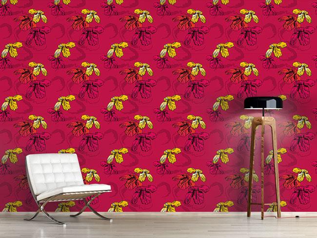 Designtapete Orchidee Pink