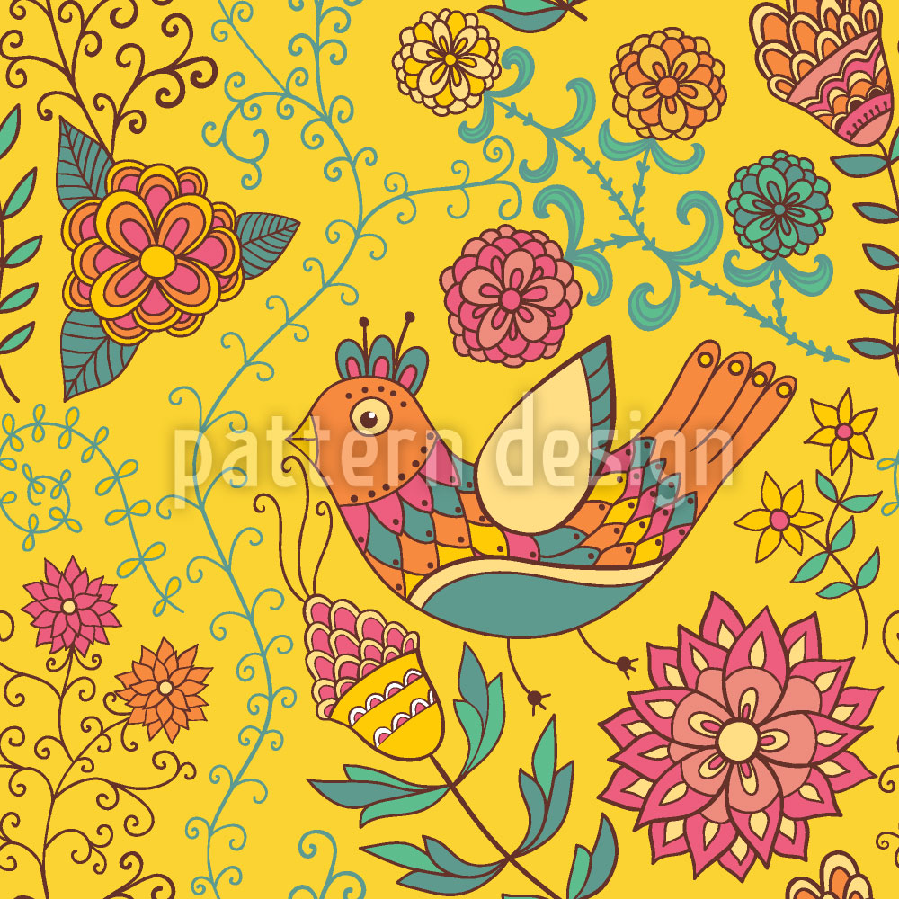 Designtapete Der Sommer Der Paradiesvögel