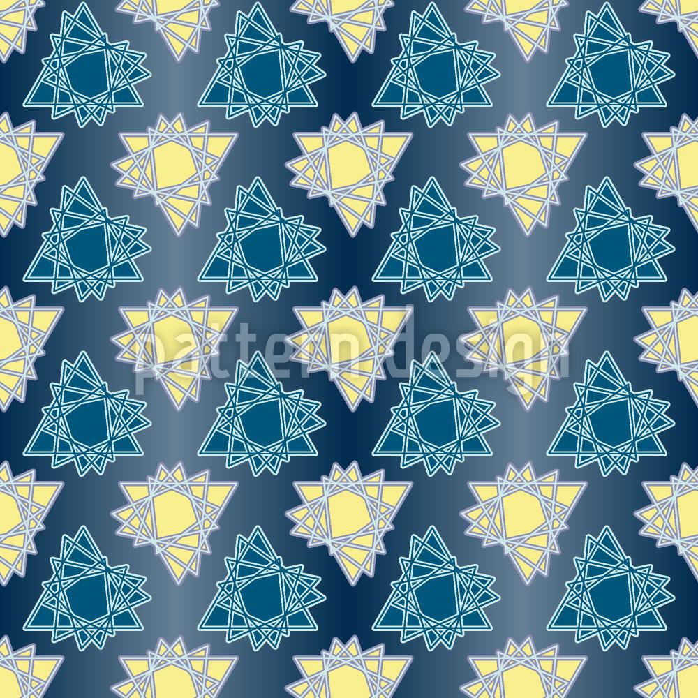 Designtapete Triangel Sterne