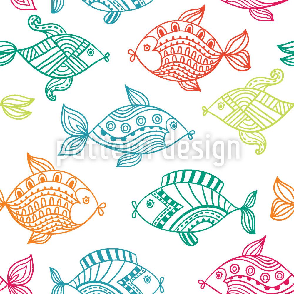 Designtapete Fische Im Aquarium