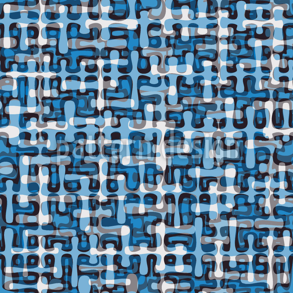 Designtapete Tropfen Labyrinth