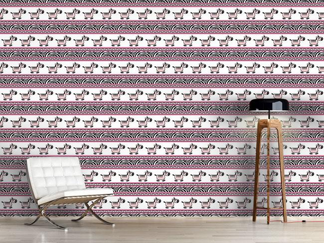 Designtapete Süsse Zebra Streifen