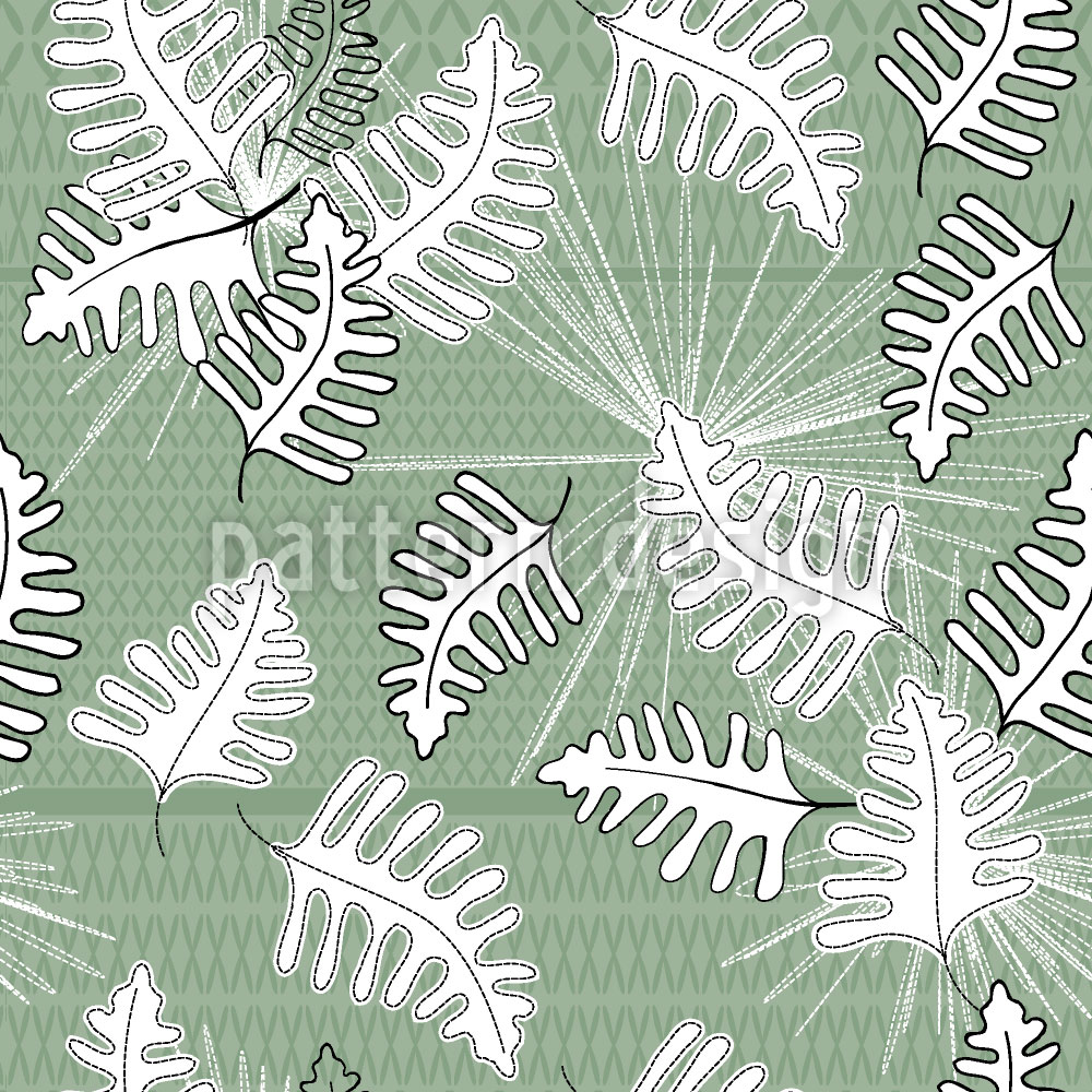 Designtapete Grünes Moos