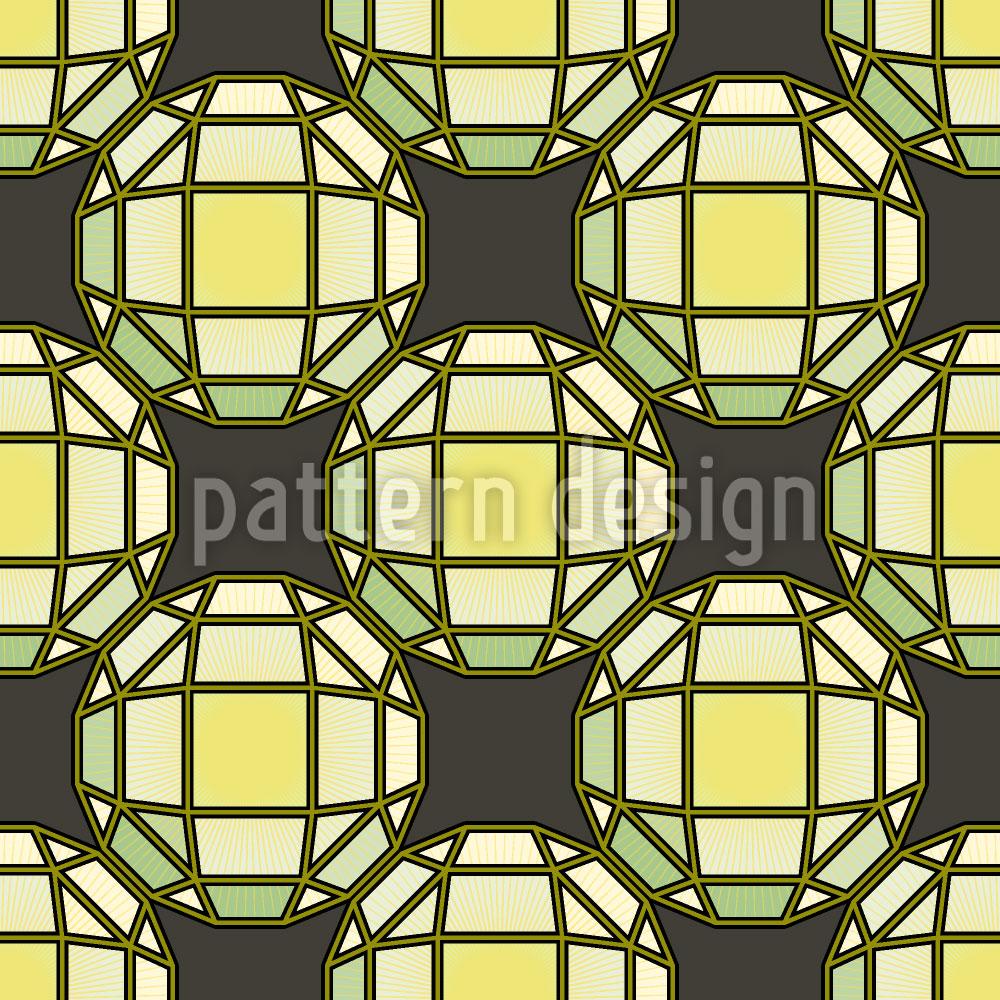 Designtapete Sonne Scheint Durch Tiffany Glas