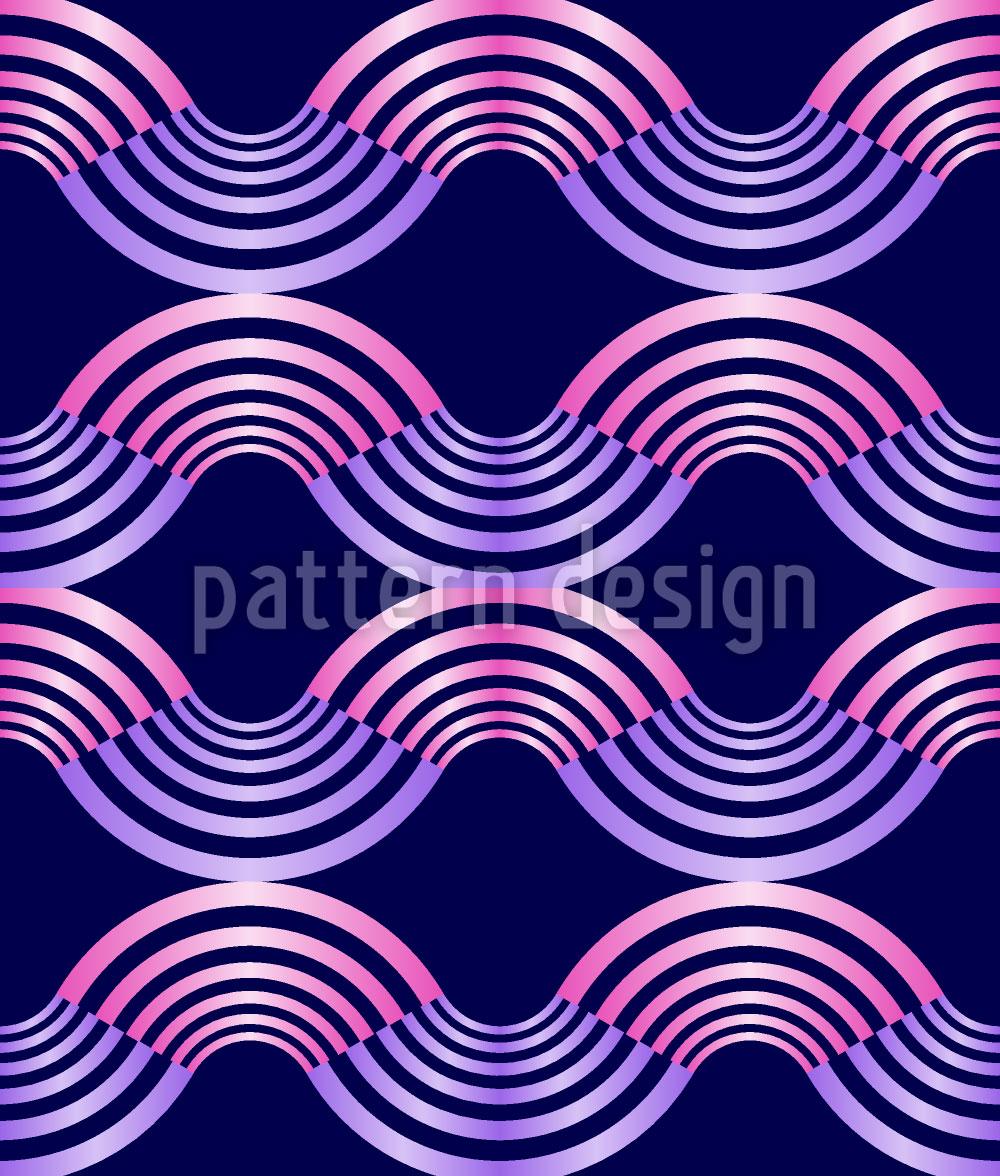 Designtapete Metall Wellen