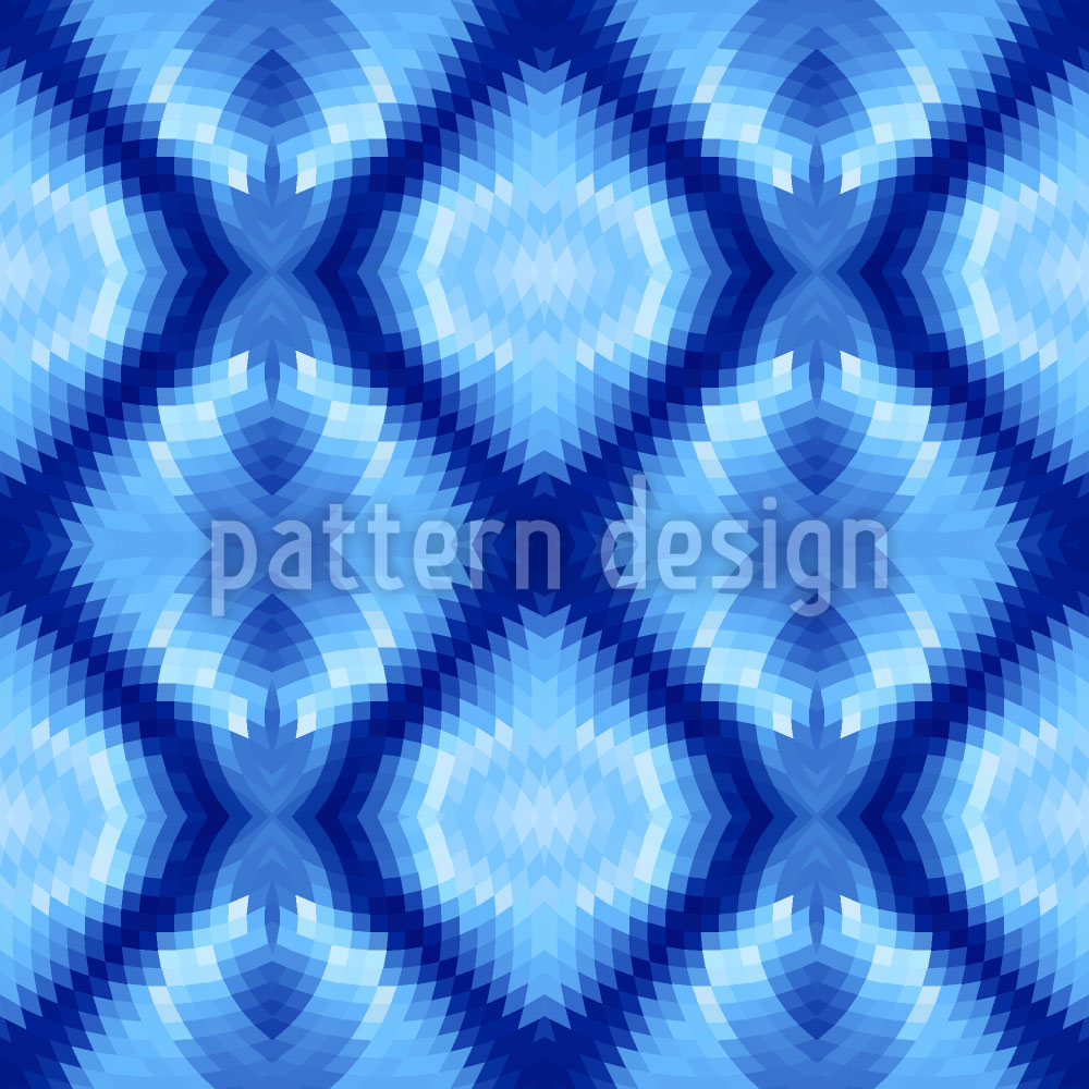 Designtapete Techno Kristalle