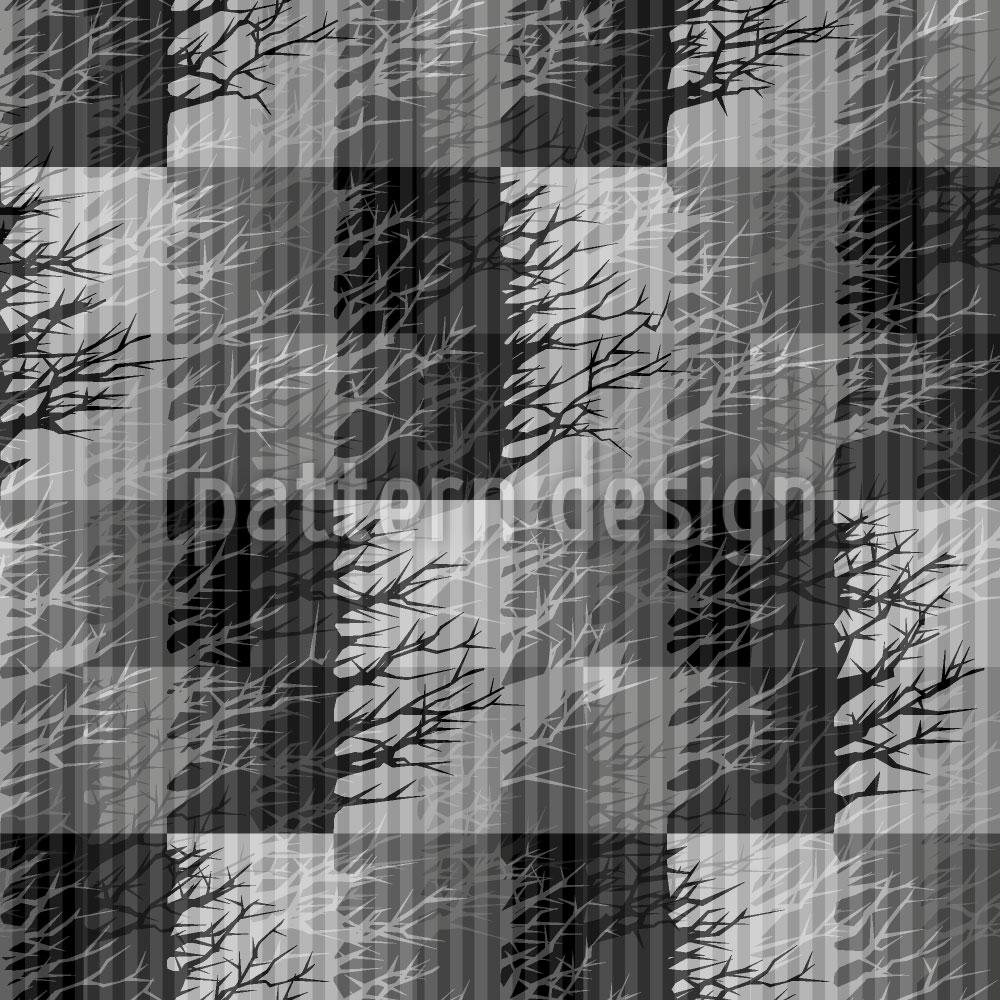 Designtapete Nebel Bäume