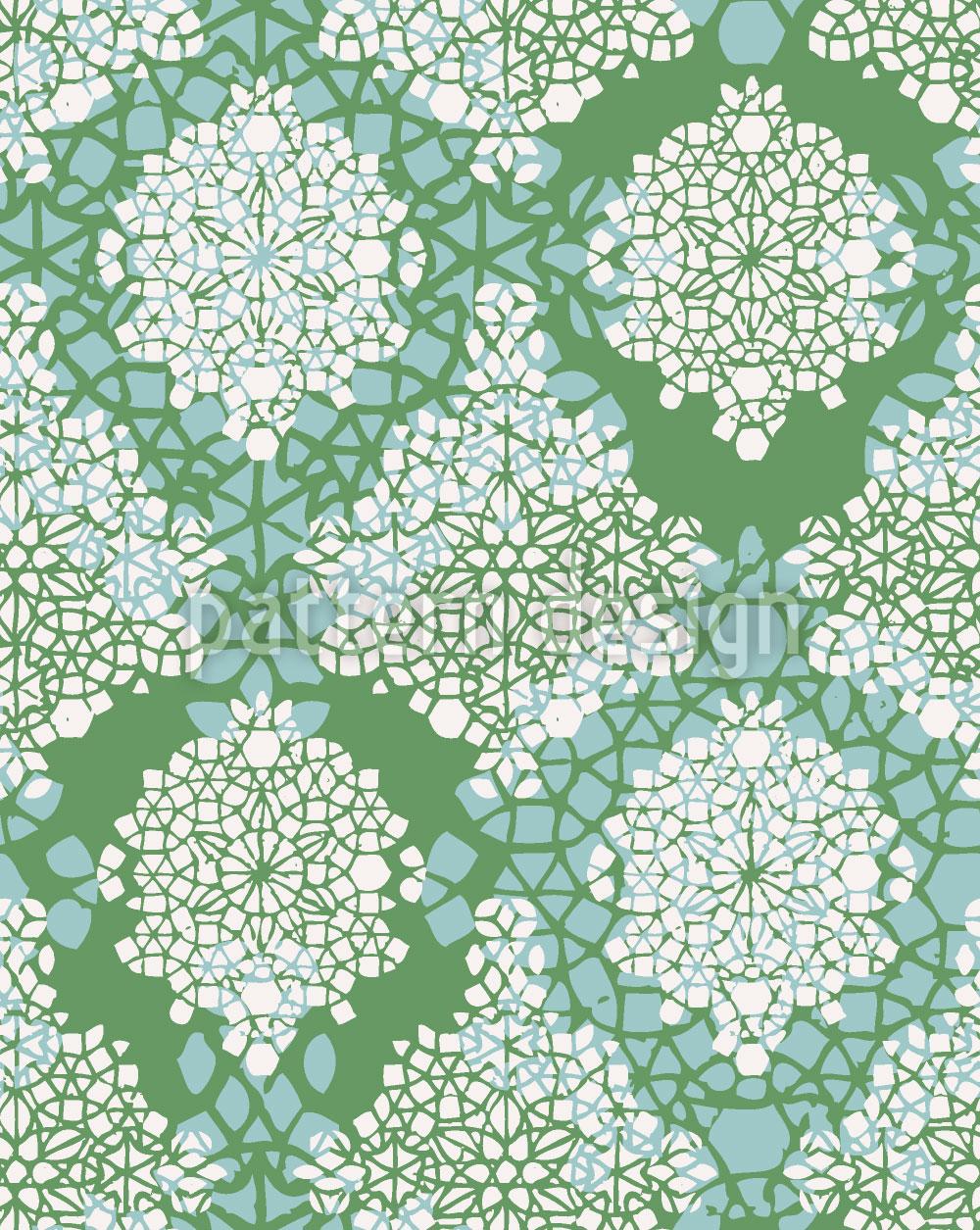 Designtapete Frühlings Kristalle