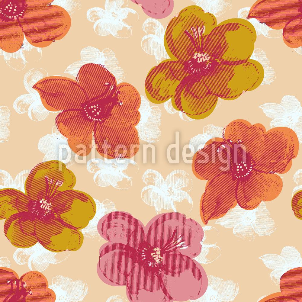 Designtapete Frisches Blumenmuster