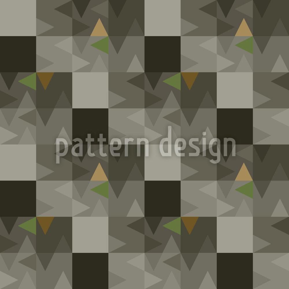 Designtapete Geometrisches Echo