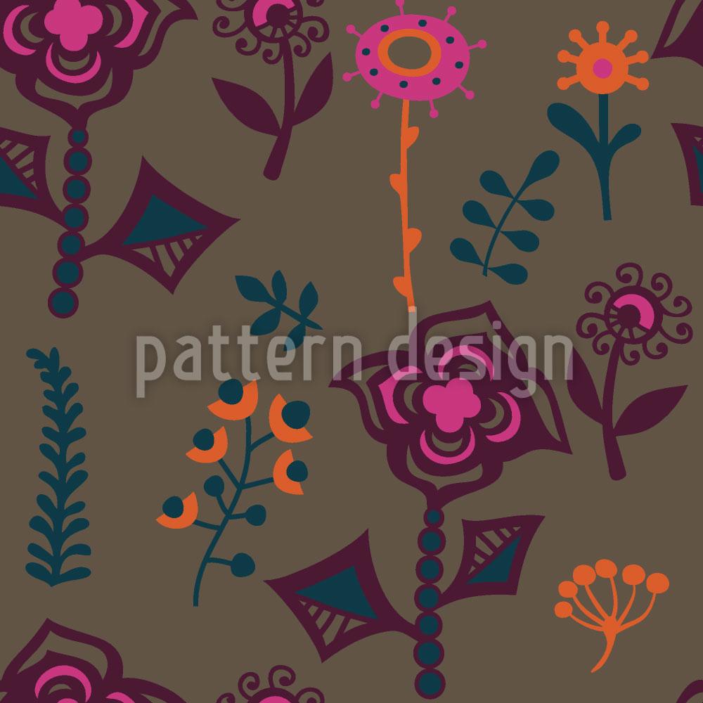 Designtapete Die Blumen Von Kasachstan