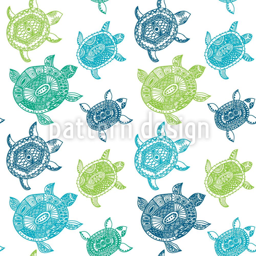 Designtapete Die Fantastische Reise Der Meeresschildkröten