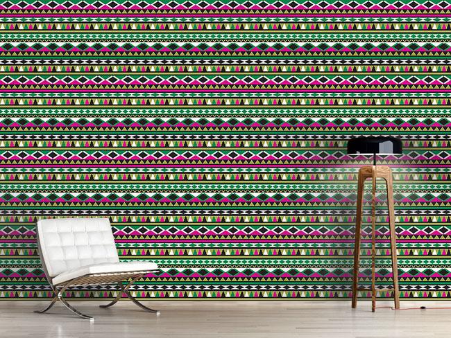 Designtapete Ethno Weihnacht