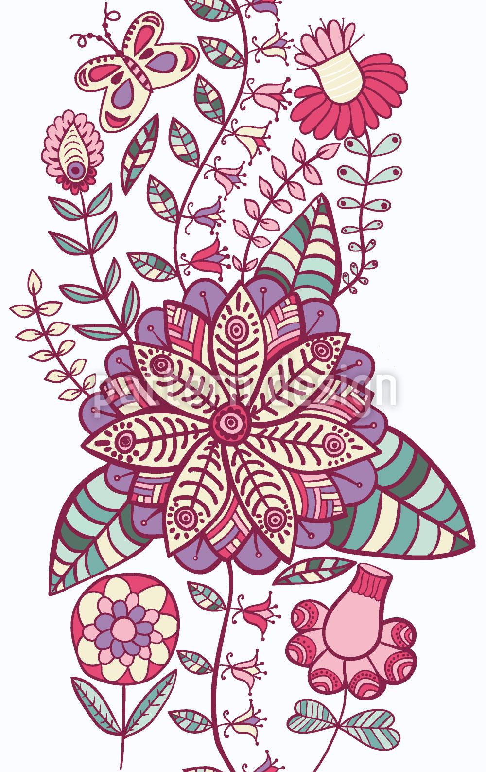 Designtapete Blumen Himmelwärts