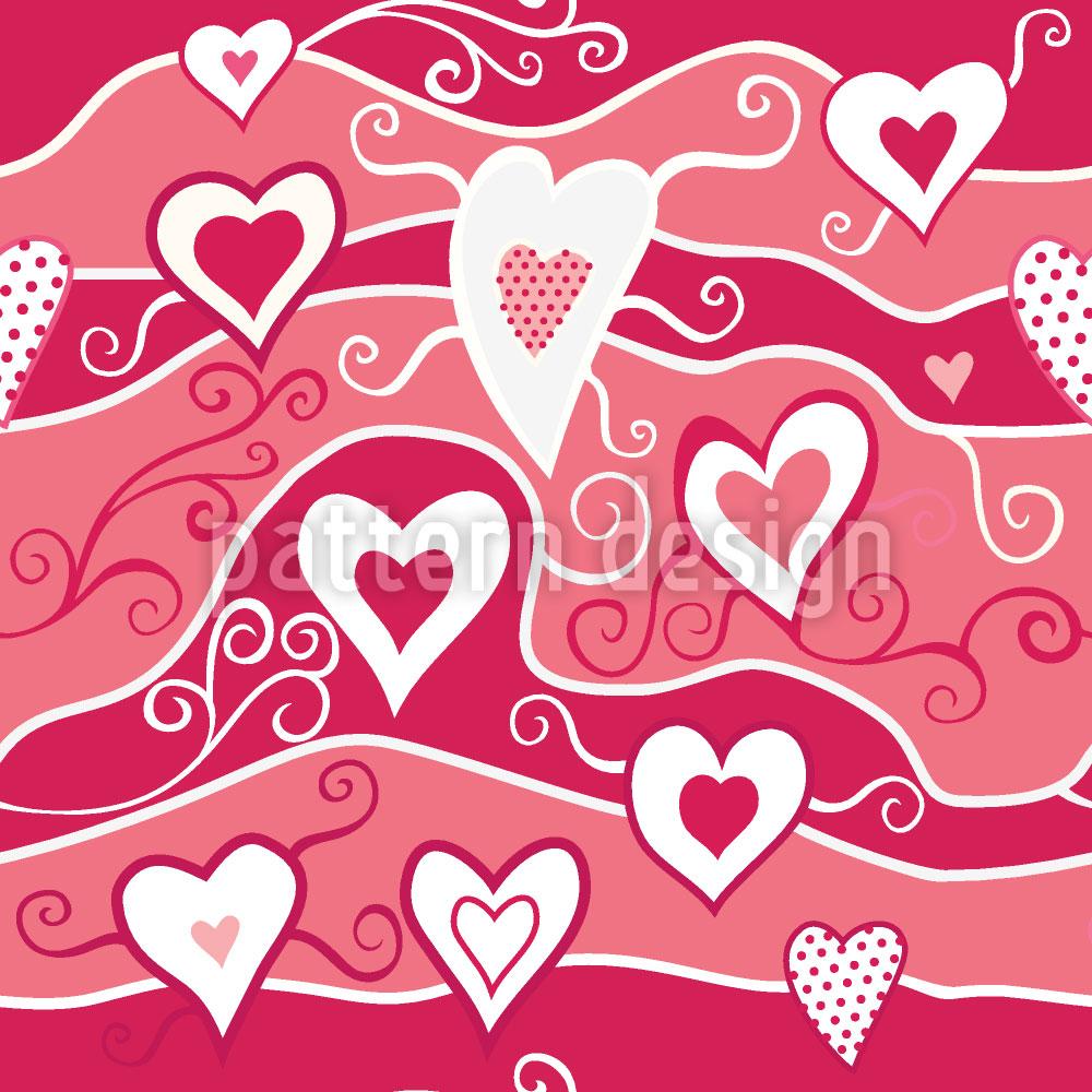 Designtapete Meer Der Herzen